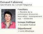 fabienne Renaud secrètaire CR Loire