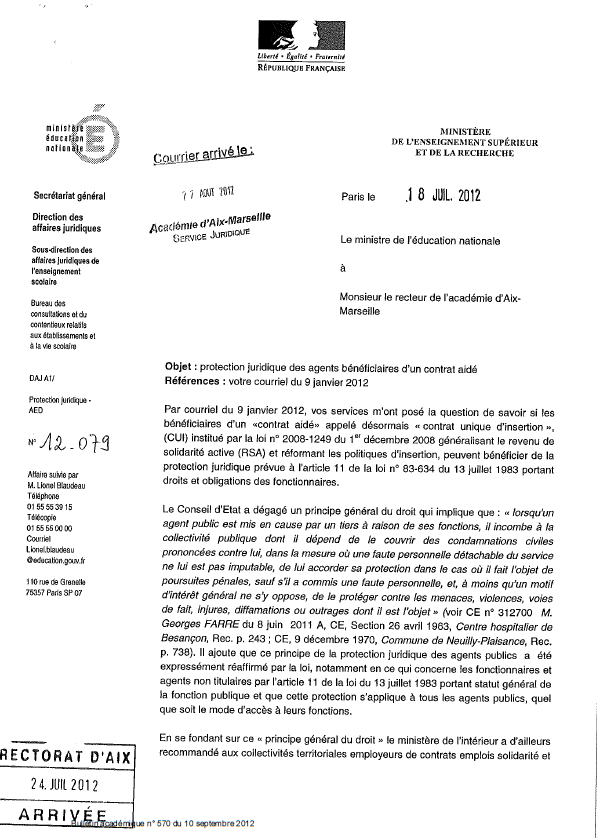 Exemple note de service juridique document online - Grille indiciaire adjoint administratif education nationale ...