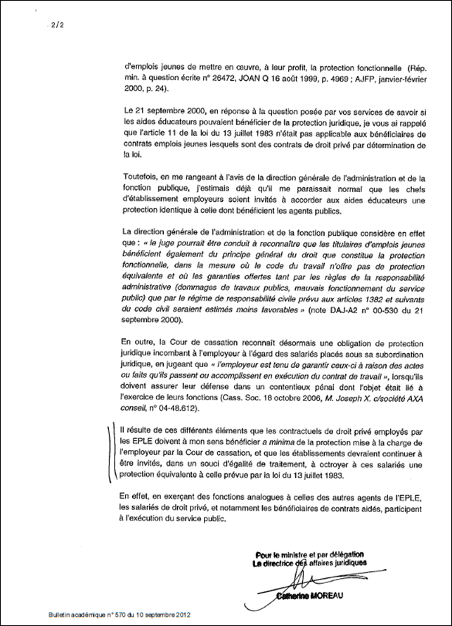 Protection juridique des salari s avs i avs m avs co - Grille indiciaire adjoint administratif education nationale ...