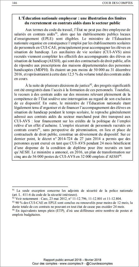 Textes Reglementaires Du Dispositif Pec Cui Cae Dans L Education